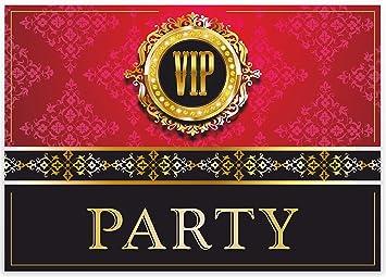 U0026quot;VIP EINLADUNGENu0026quot; 12 Stück / Edle Einladungskarten Zur V.I.P.  Party / Geburtstag