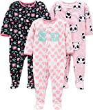 Simple Joys by Carter's Girls' - Conjunto de 3 Pijama de Forro Polar Resistente al Fuego