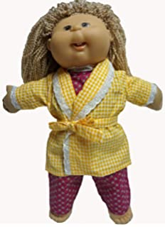 Doll Clothes Super store Pajamas And Bathrobe That Fits Cabbage Patch Kid  Dolls And Baby Dolls 5f07649e8