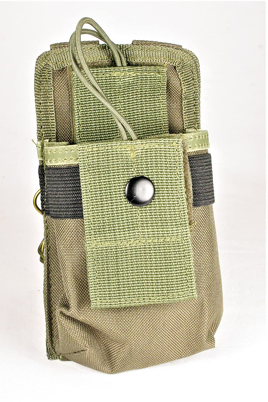 clakit strappackクリップオンポーチforラジオ& GPS、バックパックAttachment forハンター、緊急救援者、公開安全、ハイカー、Travelers B07B5MZFLQ グリーン