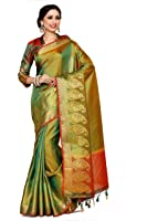 Mimosa By Kupinda Women's Art Silk Saree Kanjivaram Style Color : Multi (4032-242-Gr-2D-Gld-Mrn)