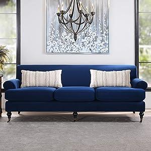 Jennifer Taylor Home Alana Lawson Sofa, Navy Blue