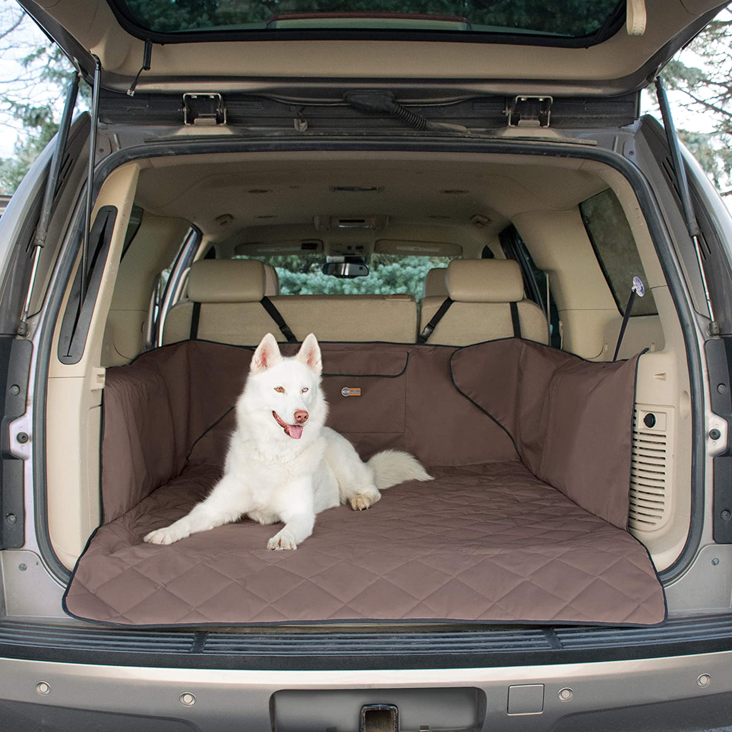 K&H Pet Products Quilted Cargo Cover Tan (Full Size) Predects Cargo Area of Your Vehicle from Pet Hair, Dirt, Scratches and More