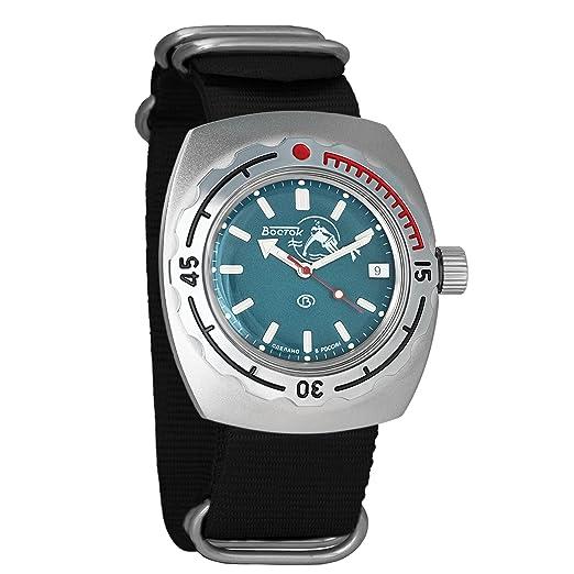 Vostok Amphibian 090059 - Reloj de pulsera automático para hombre, de cuerda automática, con