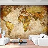 Fototapete Weltkarte 352 x 250 cm - Vliestapete - Wandtapete - Vlies Phototapete - Wand - Wandbilder XXL - !!! 100% MADE IN GERMANY !!! Runa Tapete 9015011b