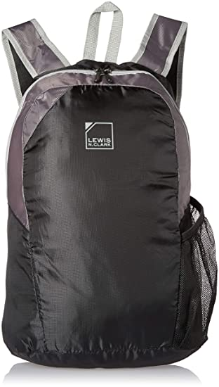 416097443567 Lewis N. Clark Packable Backpack with Neoprene Zip Pouch Travel   Lightweight Hiking Backpack for
