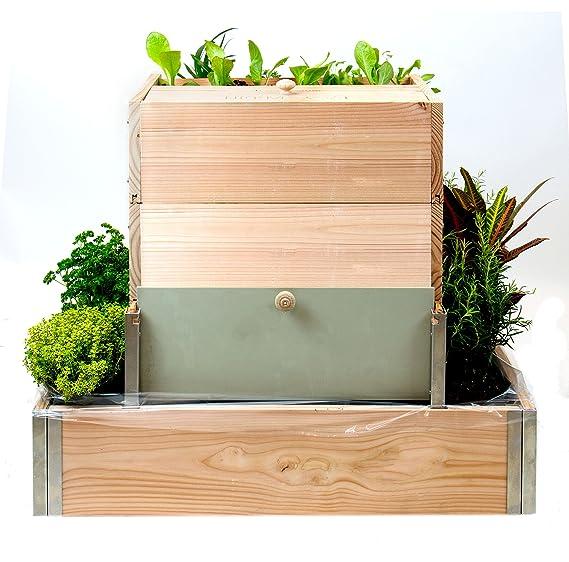 Easy jardín el jardín Vertical con compostador integrado 800 ...