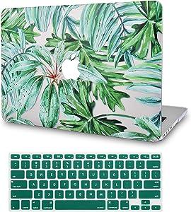 "LuvCase2in1LaptopCaseforOld MacBook Pro 13"" Retina Display (2015/2014/2013/2012) A1502/A1425RubberizedPlasticHardShellCover&KeyboardCover (Rainforest)"