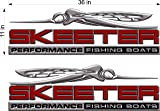 Skeeter Boats Logo Decal 3D RED PAIR