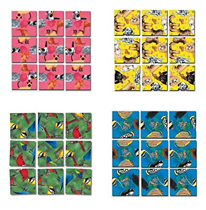 Amazon com: Scramble Squares B Dazzle Animals Puzzle Set - 4