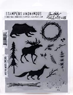 Tim Holtz Stampers Anon CMS384 CLING RBBR STAMP SET LUMBERJACK