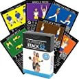 Dumbbell Exercise Cards by Strength Stack 52. Dumbbell Workout Playing Card Game. Video Instructions Included. Perfect for Training with Adjustable Dumbbell Free Weight Sets and Home Gym Fitness.