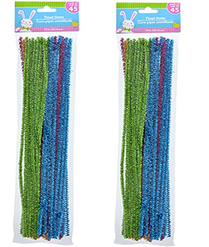 Amazon Com Easter Spring Tinsel Craft Pipe Cleaners Chenille