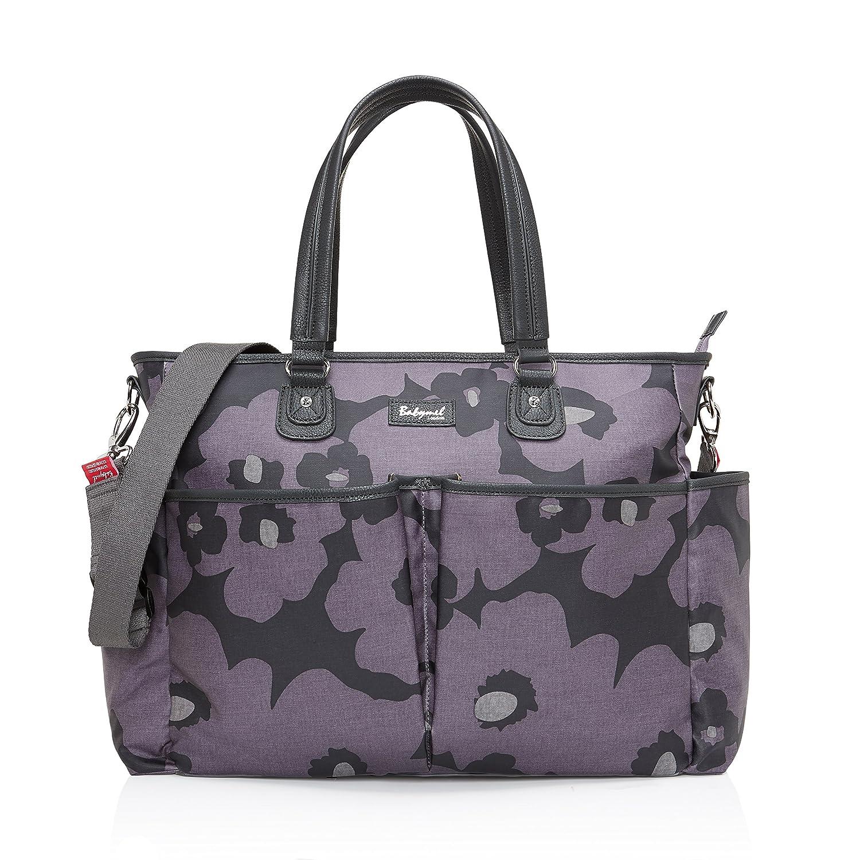 Babymel Bella Changing Bag, Floral Grey BM7898