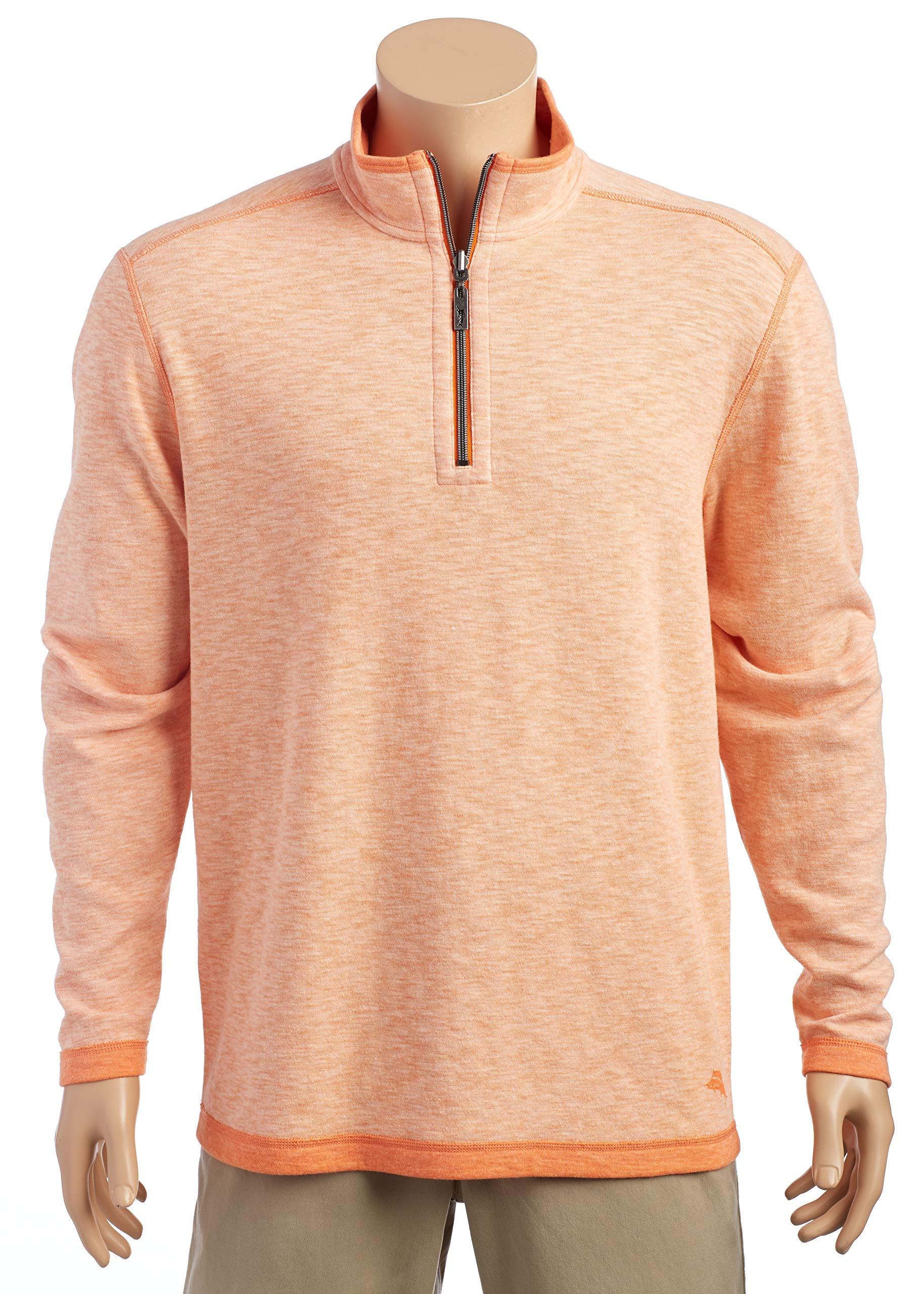 Tommy Bahama Sea Glass Reversible Half-Zip Sweatshirt (Curuba, L)