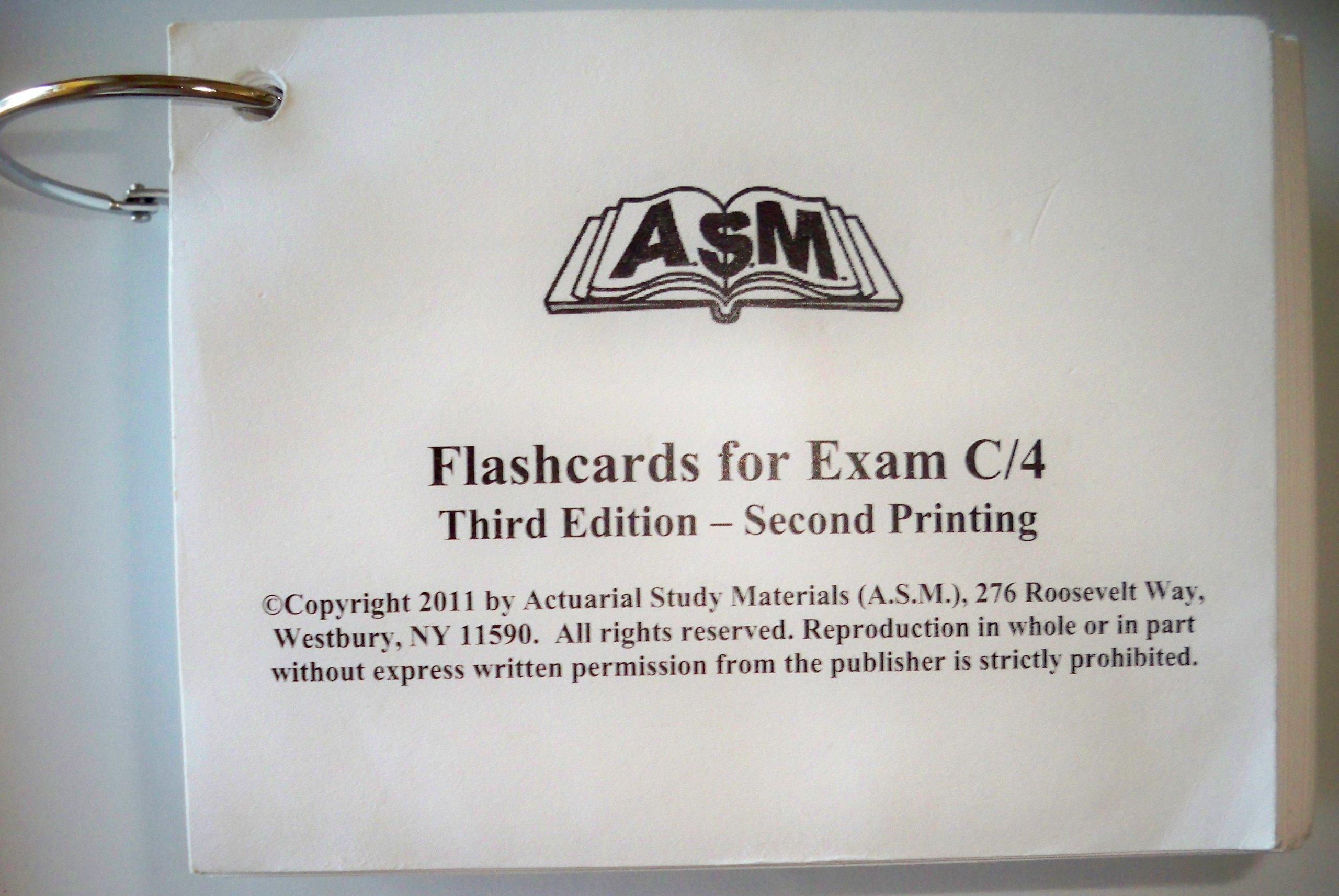 ASM Flashcards for Exam C/4: Actuarial Study Materials (ASM): Amazon.com:  Books