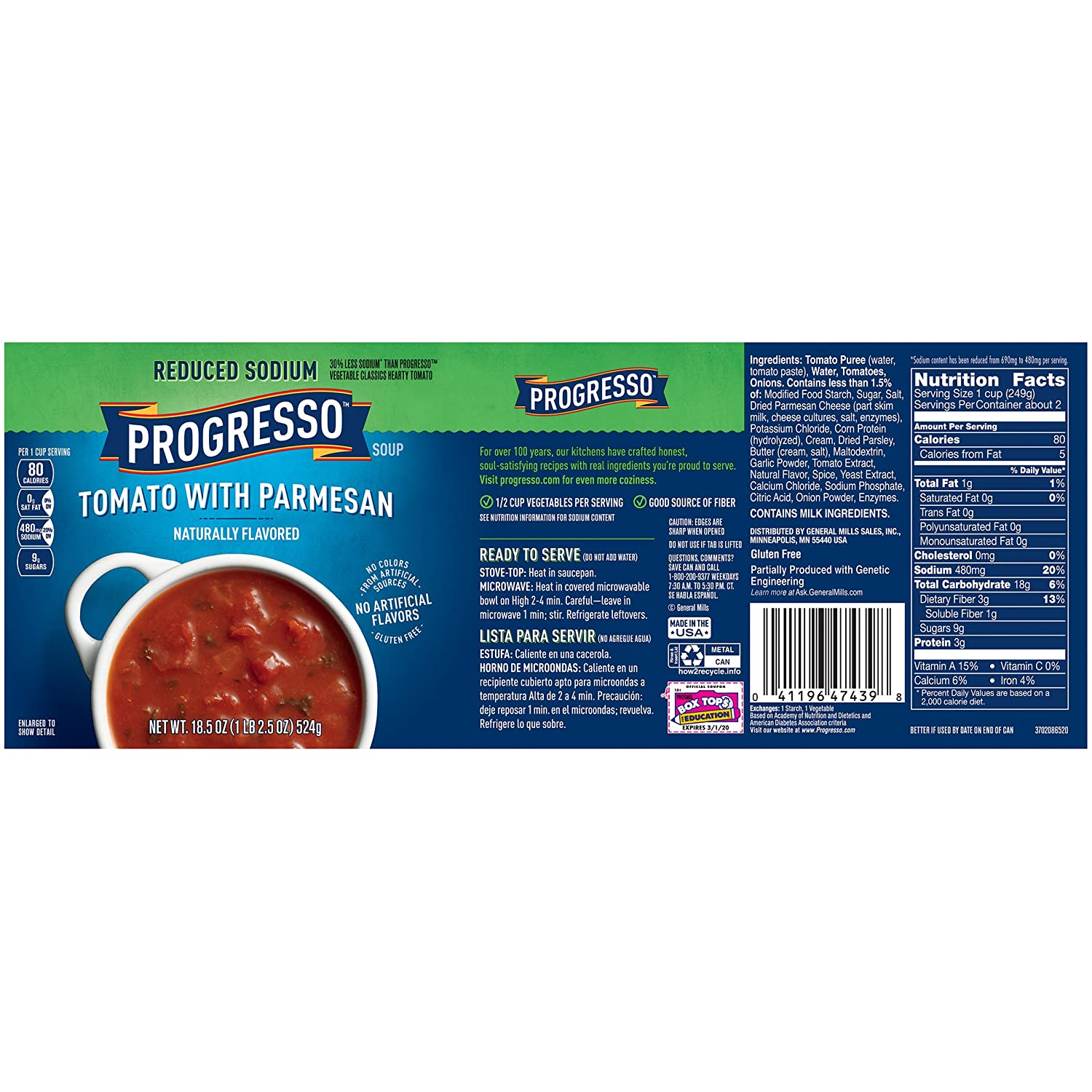 Amazon.com : Progresso Vegetable Classics Soup, Tomato Basil, 19-Ounce (Case of 12)  : Grocery & Gourmet Food