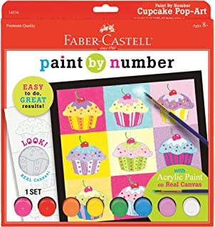 Faber Castell Paint By Number Cupcake Pop Art