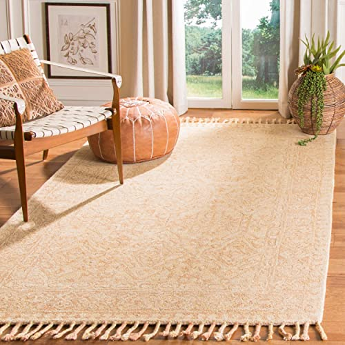 Safavieh Aspen Collection APN225A Ivory and Blush Premium Wool Area Rug 8' x 10'