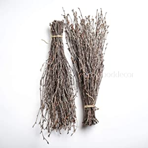 100 pcs Birch Branches Wedding centerpieces or vase Decoration. Set of 2 Bundles. 100% Natural Birch Twigs 17 inches
