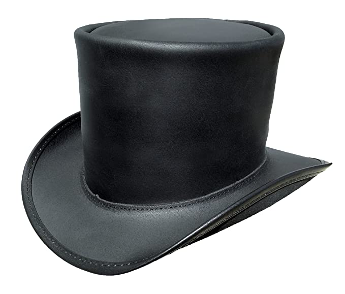 Men's Steampunk Costume Essentials Steampunk Topper Black Top Hat (Medium 7 - 7 1/8 in.) $95.00 AT vintagedancer.com