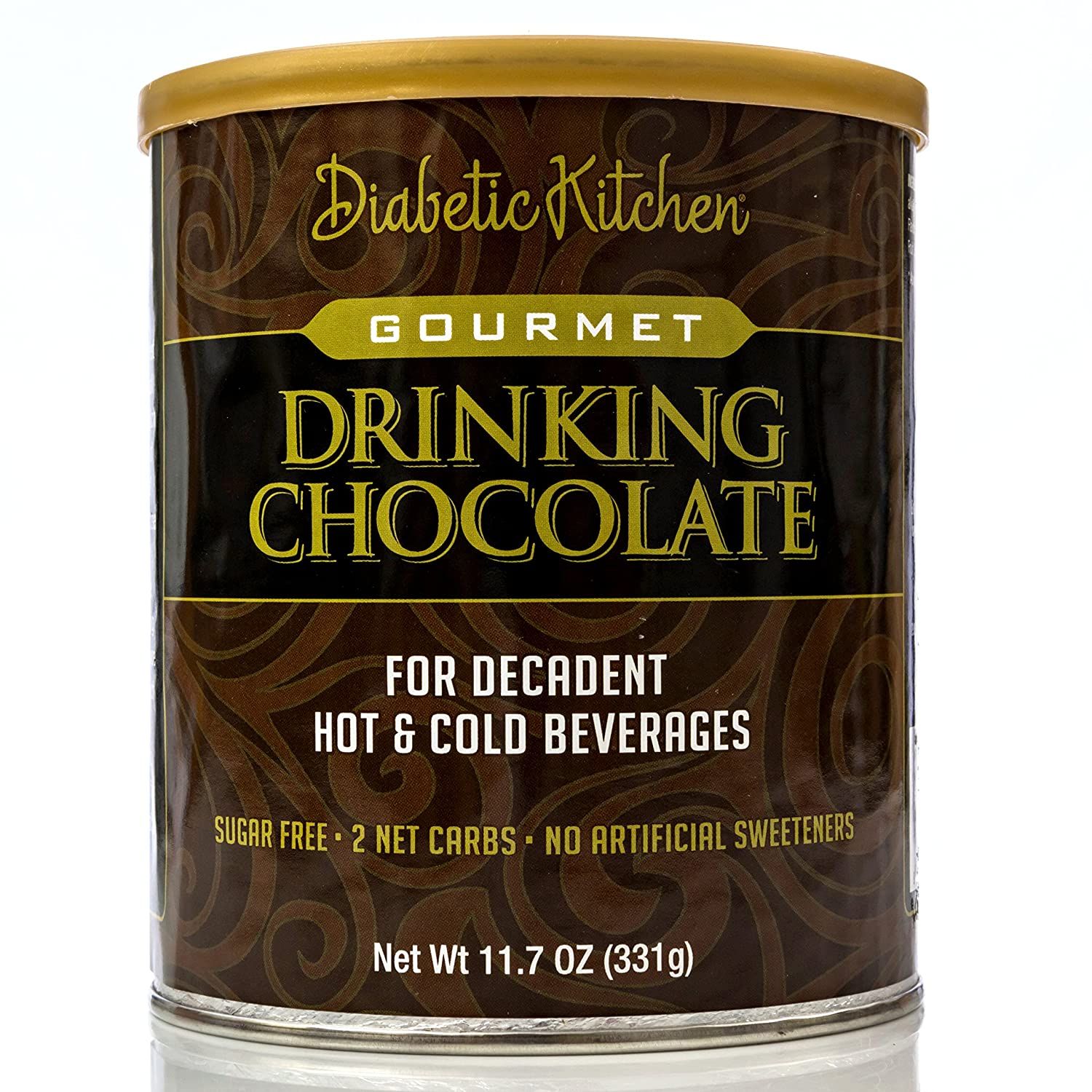 Diabetic Kitchen Gourmet Drinking Chocolate For A Decadent Hot Or Cold Drink That Is Sugar-Free, Low-Carb, Keto-Friendly, No Artificial Sweeteners or Sugar Alcohols (22 Servings)