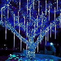 Twinkle Star Meteor Shower Rain Lights, 30cm 8 Tubes 288 LED Valentine Lights Icicle Snow Falling Christmas Lights…