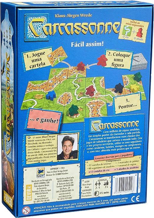 Devir - Carcassonne en Portugues (BGCARCPT2): Amazon.es: Juguetes y juegos