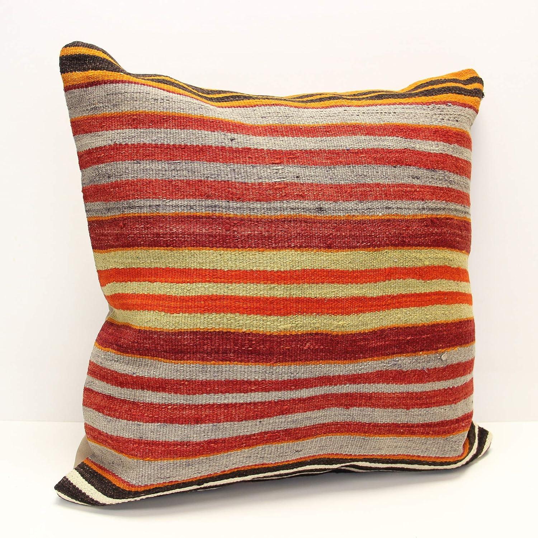 Cushion Cover 24x24 Best Home Decor Pillow Beige Pillow Striped Pillow Kilim Pillow Outdoor Pillow,Large Pillow Handwoven Pillow 2907