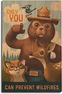 product image for Lantern Press Smokey Bear - Only You - Oil Painting (10x15 Wood Wall Sign, Wall Decor Ready to Hang)