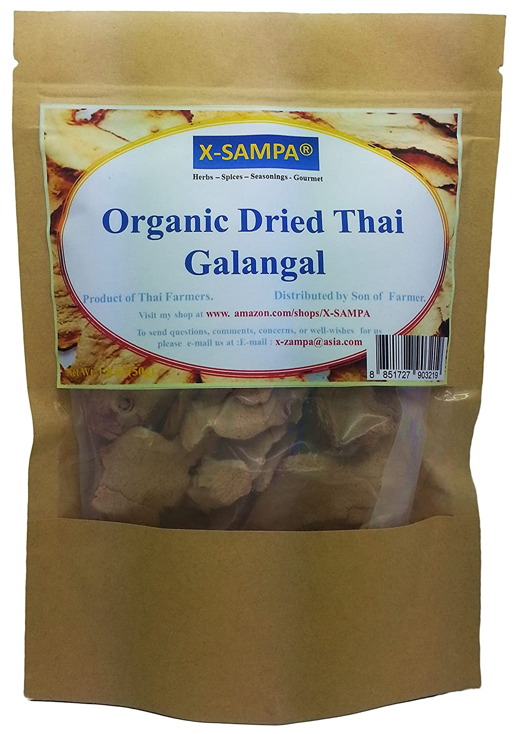 Amazon.com : Yours Kitchen Organic Dried Thai Galangal Slice From My ...