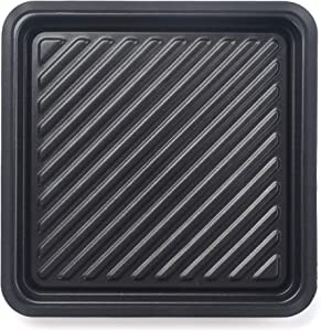 Maconee Microwave Square Non-Stick Grill Tray-Pana Crunch Pan for Cooking Meet, Fish, Pizzas or Toasts, Micro Crispy Cookware Dishwasher Safe for 31 Litre or Bigger Microwave Oven