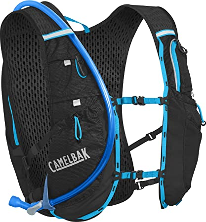 a7b88175bc CamelBak Ultra 10 Crux Reservoir Hydration Vest, Black/Atomic Blue, 2 L/