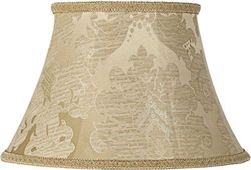 Ivory Brocade Lamp Shade 10x17x11 Spider – Springcrest