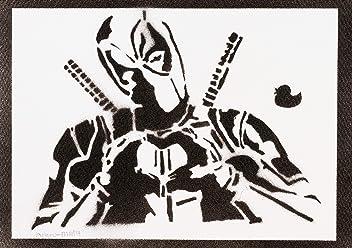 Deadpool Handmade Street Art - Artwork - Poster