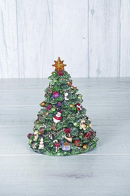 Caja de música con diseño de árbol de Navidad – Árbol de Navidad Tradicional con Cuerda giratoria – Te deseamos una Feliz Navidad: Amazon.es: Hogar