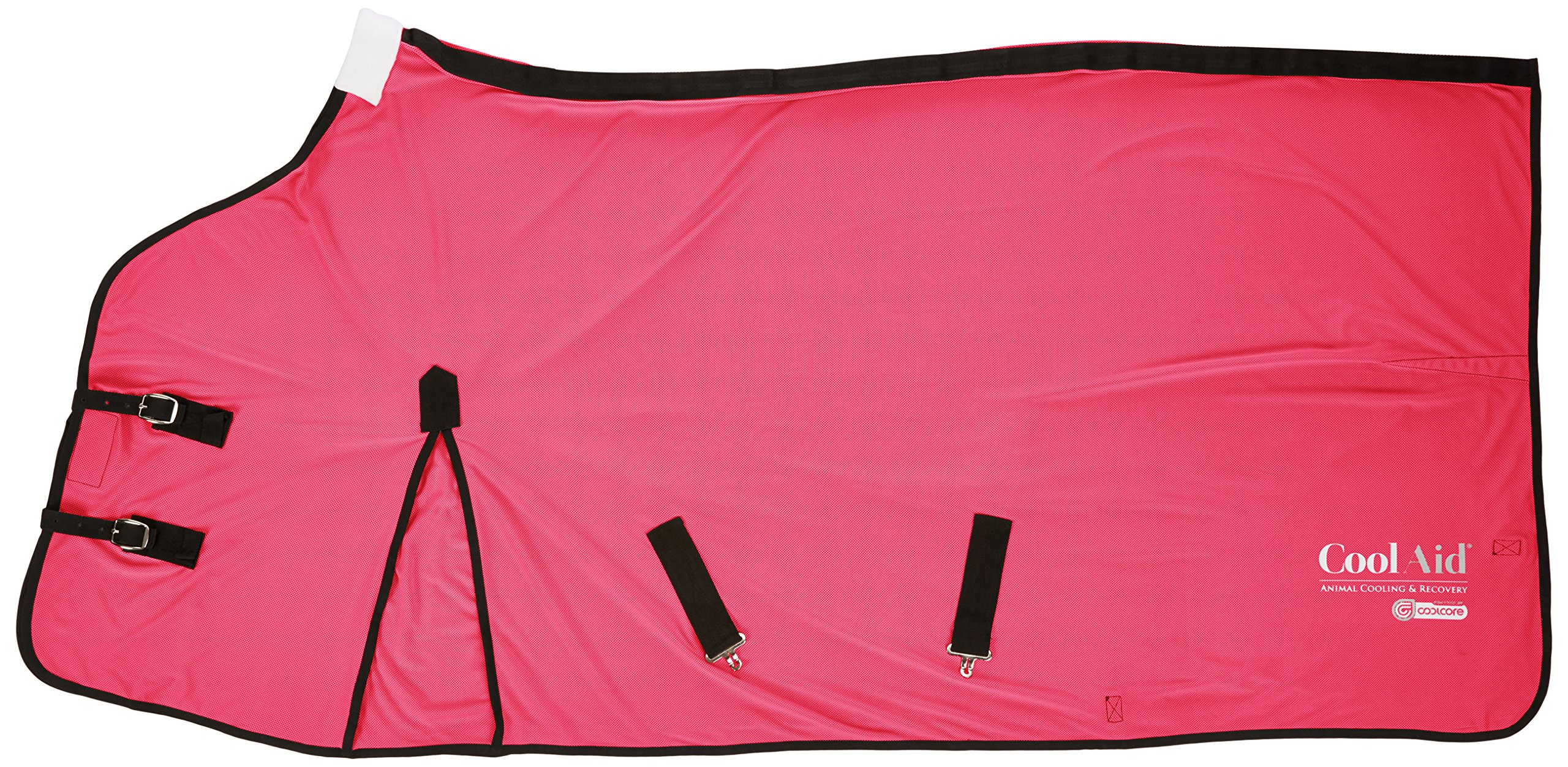 CoolAid Animal Cooling and Recovery Equine Cooling Blanket, Pink, Small