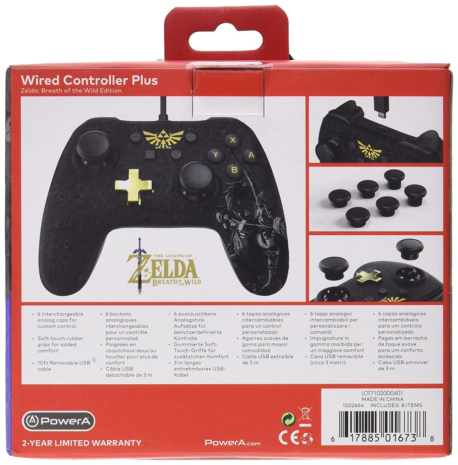 Nintendo Switch Wired Controller Plus - Zelda: Breath of the