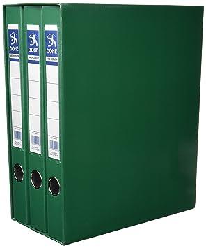 Dohe 91008 - Módulo con 3 archivadores folio, color verde