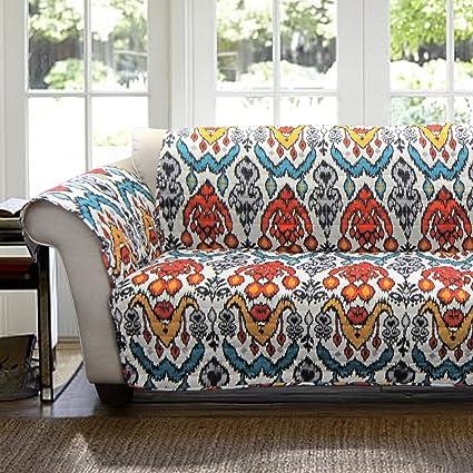 Amazon Com Lush Decor Jaipur Ikat Slipcover Furniture Protector For