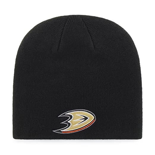 e9c6f3bf8a1fd7 Amazon.com : OTS NHL Anaheim Ducks Beanie Knit Cap, Black, One Size :  Clothing