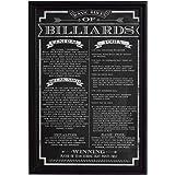 Hathaway Billiard Game Rules Wall Art
