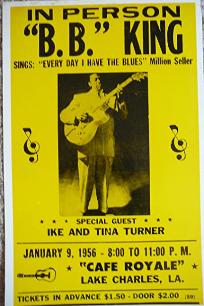 Amazon.com: B.b. King W/special Guest Ike & Tina Turner Poster ...