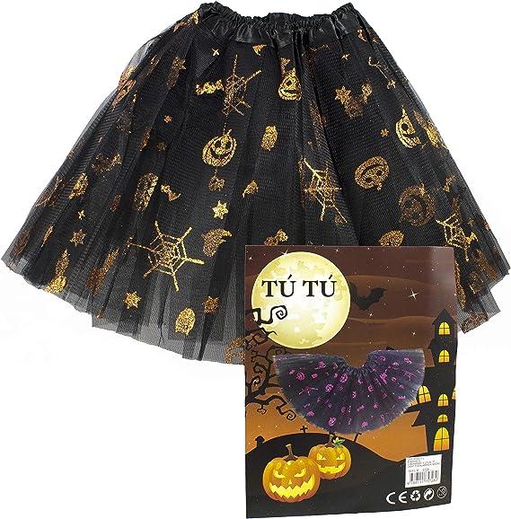 Disfraz Halloween Niña.Falda De Tul Negra para Niña. Tutu ...
