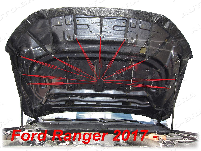 Ab3 00042 Bonnet Auto Bra Kompatibel Mit Ford Ranger Seit 2015 Haubenbra Steinschlagschutz Tuning Auto Bra Auto