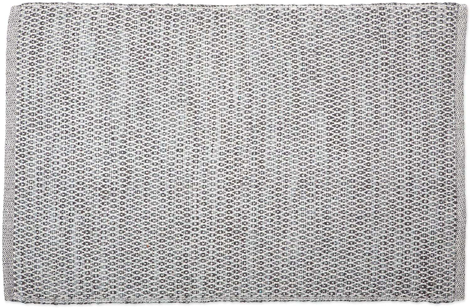 DII Contemporary Reversible Machine Washable Recycled Yarn Area Rug for Bedroom, Living Room, and Kitchen, 2'x3', Diamond Gray