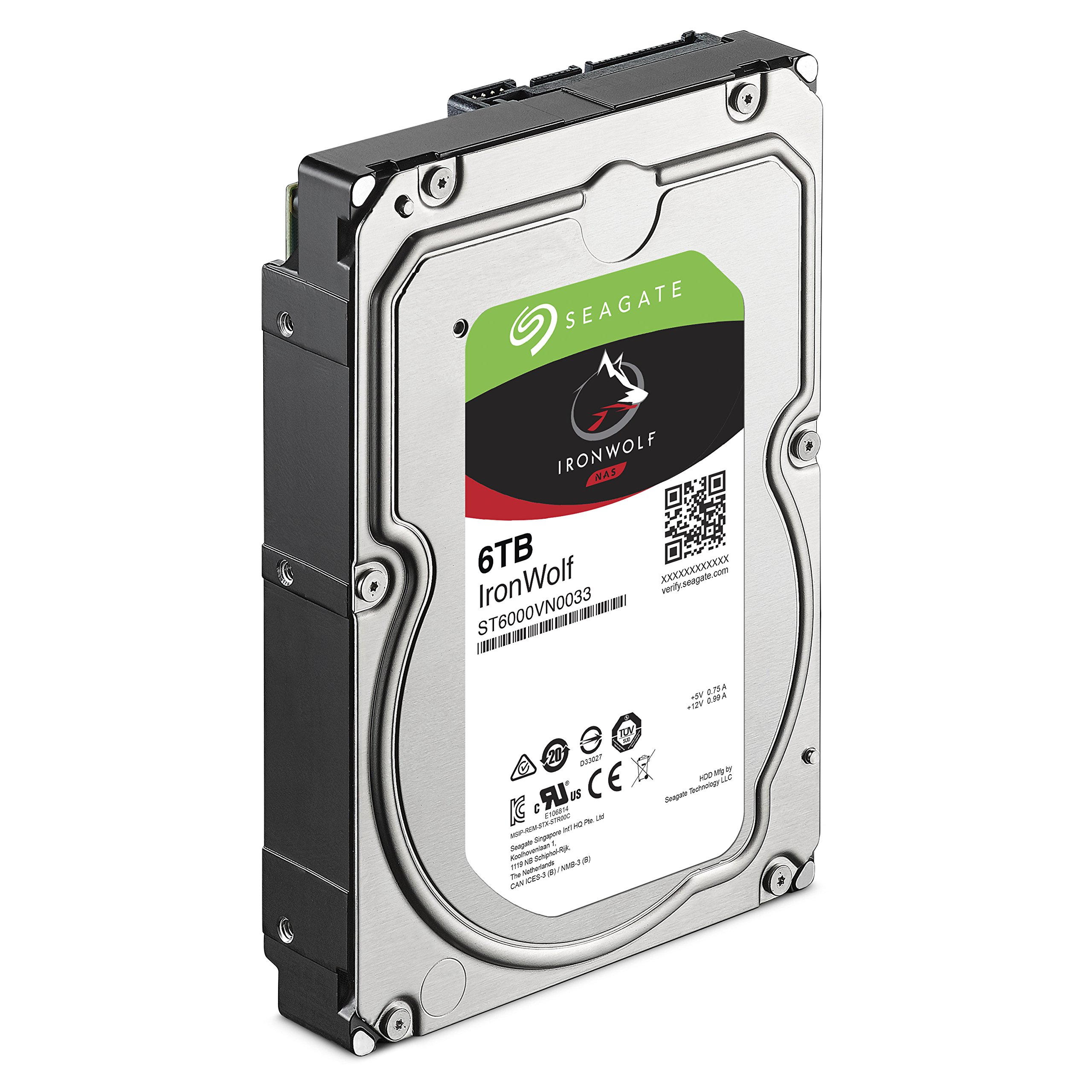 Seagate Ironwolf 6 TB NAS RAID Internal Hard Drive - 7,200 RPM SATA 6 Gb/s 3.5-inch - Frustration Free Packaging  (ST6000VN0033) by Seagate (Image #3)