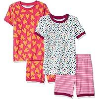 Amazon Essentials - Pijama de manga corta para niños y bebés (4 piezas)