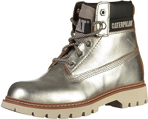 Caterpillar - Botines de caño bajo Mujer, Color Plateado, Talla 36: Amazon.es: Zapatos y complementos