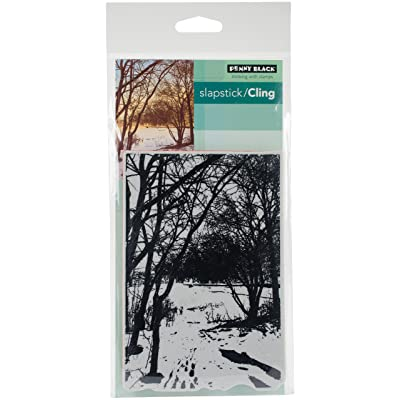 "Penny Black Wintry Trail Cling Stamps, 5""X7"", Multi-Colour: Kitchen & Dining"